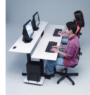 Computer Training Desk Split Level