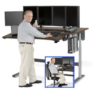 Powered Adjustable Height Workstation For The