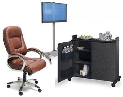 Conference Room Accessories Including Leather Executive Conference - Conference table accessories
