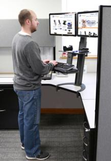 Sit Stand Keyboard Monitor Stand Attaches To Existing Desks