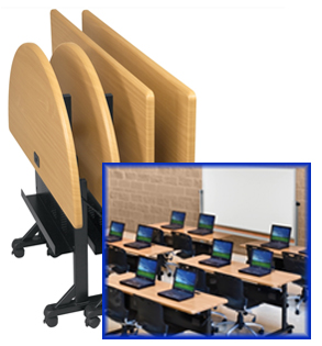 Folding Training Tables Nest Easily For Storage - Training table sizes