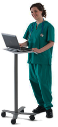 Anthro Peanut Laptop Floor Stand Medical