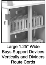Chromebook Charging Cart Bays