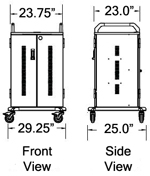 Chromebook Charging Cart Dimensions