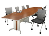 long conference table - boat shape