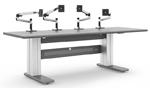 control room desk monitor arms