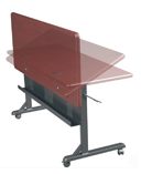 folding training tables - action
