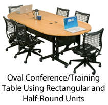 folding training tables oval conference