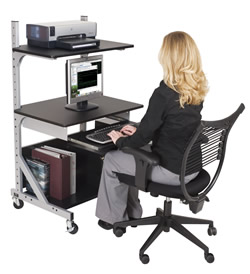 Adjustable Shelf Sit Stand Workstation Ideal For Fixed