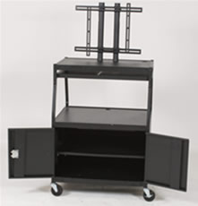 large mobile tv cart - view 2