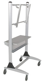 mobile flat screen tv cart - view 3