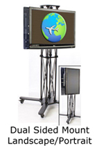 Trade Show Tv Stands Trade Show Monitor Stands Monitor Floor Stand