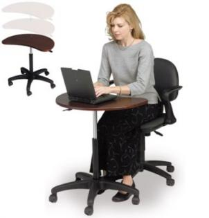 Small Laptop Desk Is Height Adjustable