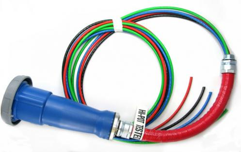 Hubbell Pin and Sleeve Connectors on Ready-to-Go PDU Cables